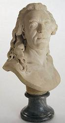 Marble bust of Buffon by Augustin Pajou (1776)
